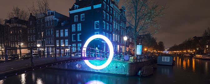 Illustratie van Amsterdam Light Festival